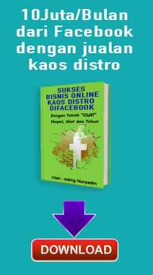Iklan Ebook Gratis Bisnis Online Grosir Kaos Distro Gratis